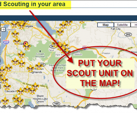 Be-A-Scout map