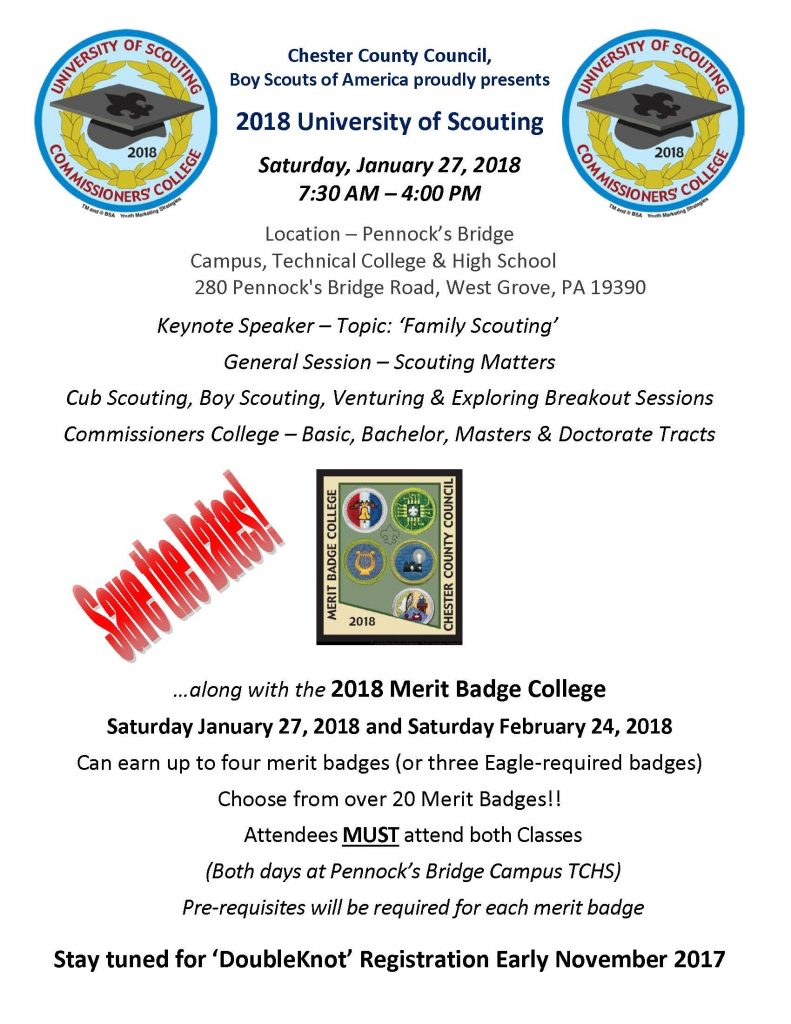 Merit Badge College Chester County