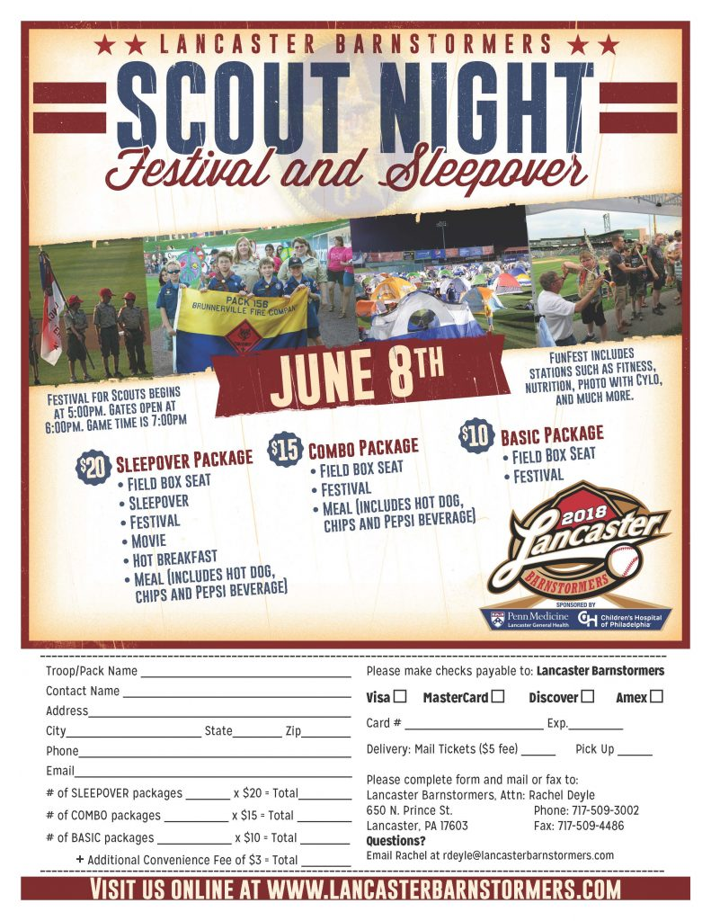 2018 Barnstormers Scout Night